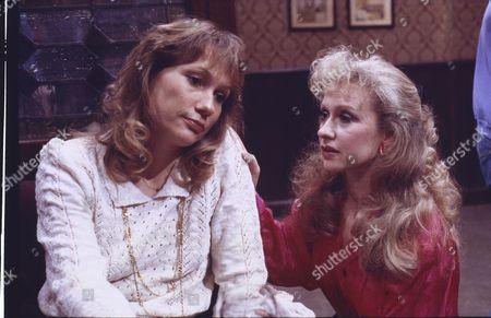 Stock Image of Rosie Kerslake (as Linda Farrell) and Sue Jenkins (as Gloria Todd)