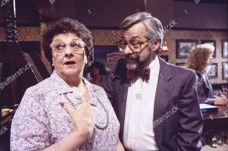 Stock Image of Betty Driver (as Betty Turpin) and Kenneth Alan Taylor (as Cecil Newton)