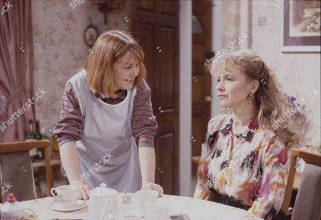 Sally Watts (as Sandra Stubbs) and Sue Jenkins (as Gloria Todd)