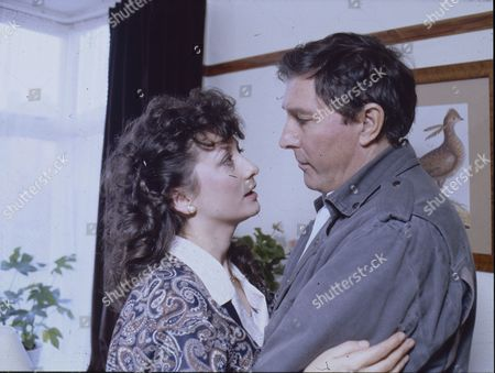 Irene Skillington (as Carole Burns) and Mark Eden (as Alan Bradley)