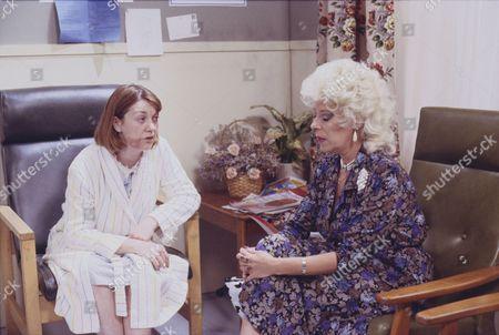 Sally Watts (as Sandra Stubbs) and Julie Goodyear (as Bet Gilroy)