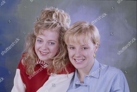 Stock Photo of Julie Foy (as Gina Seddon) and Sally Dynevor (as Sally Webster)