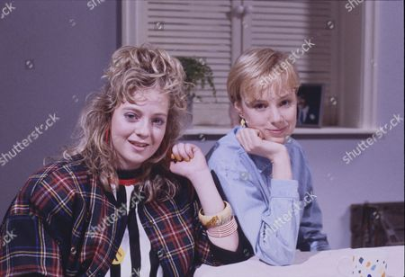 Stock Picture of Julie Foy (as Gina Seddon) and Sally Dynevor (as Sally Webster)