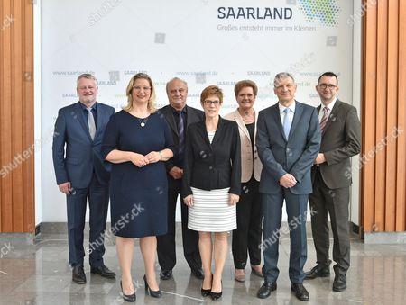 Ulrich Commercon, Anke Rehlinger, Klaus Bouillon, Annegret Kramp-Karrenbauer, Monika Bachmann, Stephan Toscani, Reinhold Jost