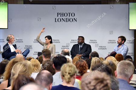 Stock Picture of Bill Ewing, Taryn Simon, Isaac Julien, Mat Collishaw at Photo London press conference