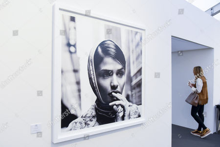 "Stock Image of  ""Helena Christensen"", New York, 1996, by Anton Corbijn.  Preview of Photo London 2017 at Somerset House.  Held for the third time, the event showcases the best in contemporary photography, from 89 galleries from 16 different countries, for collectors and enthusiasts and will be on from 18 - 21 May."