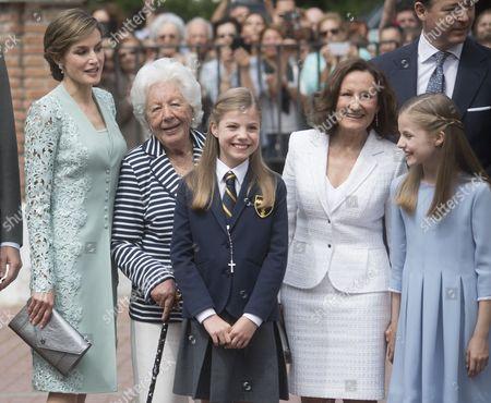 Menchu Alvarez; Paloma Rocasolano: Princess Leonor ; Princess Sofia aka Infanta Sofía ; Queen Letizia ;