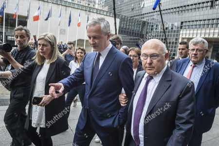 Christian Eckert, Bruno Le Maire and Michel Sapin