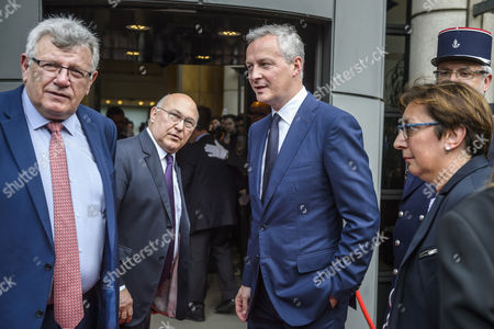 Editorial photo of French Finances Ministry handover ceremony, Paris, France - 17 May 2017