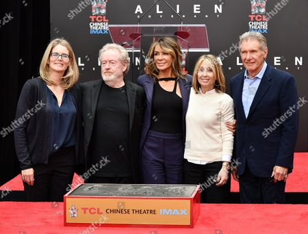Ridley Scott, Giannina Facio, Harrison Ford