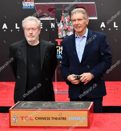 Editorial image of Ridley Scott hand and footprint ceremony, Los Angeles, USA - 17 May 2017