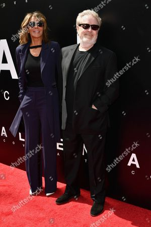Giannina Facio and Ridley Scott