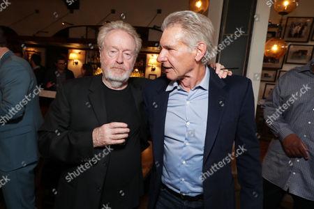 Stock Photo of Ridley Scott, Harrison Ford
