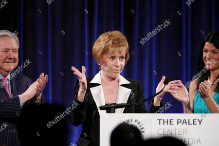 Frank A Bennack Jr, Carol Burnett, Maureen J. Reidy (CEO; Paley Center for Media)