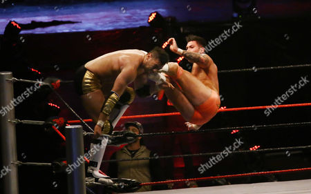Editorial photo of International wrestlers fight in Karachi for competition, Pakistan - 17 May 2017