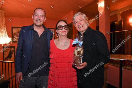 Stock Picture of Christian Wolff mit Ehefrau Marina and Sohn Patrick,