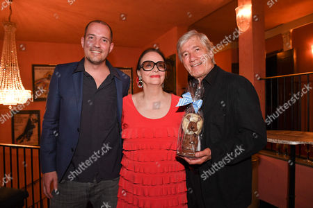 Stock Picture of Christian Wolff mit Ehefrau Marina and Sohn Patrick,