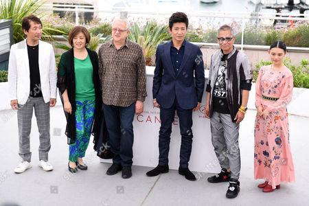 Hiroyoshi Koiwai, Misako Saka, Jeremy Thomas, Takuya Kimura, Takashi Miike and Hana Sugisaki