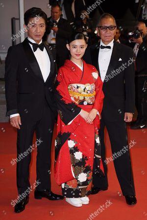 Takuya Kimura, Hana Sugisaki and Takashi Miike
