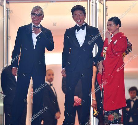 Takashi Miike, Takuya Kimura and Hana Sugisaki