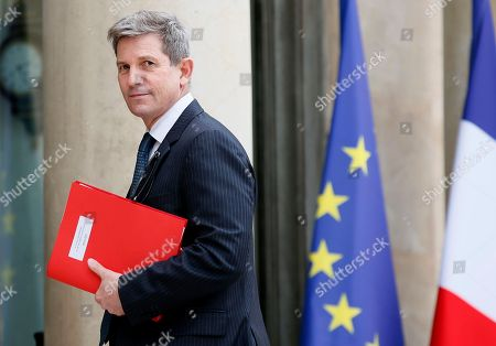 Louis Gautier, head of the French Secretariat-General for National Defence and Security (SGDNS), arrives at the Elysee Palace, in Paris as French President Emmanuel Macron chairs his first security council