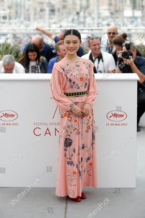 Actress Hanna Sugisaki poses for photographers during the photo call for the film Blade of the Immortal, at the 70th international film festival, Cannes, southern France