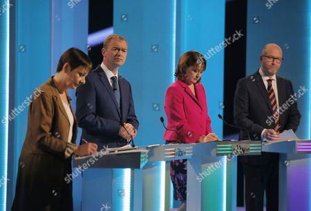 Caroline Lucas, Tim Farron, Leanne Wood, Paul Nuttall