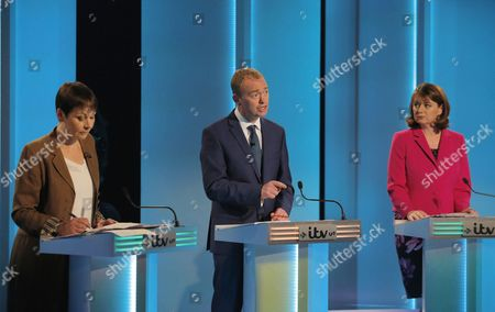 Caroline Lucas, Tim Farron, Leanne Wood