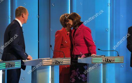 Tim Farron, Nicola Sturgeon, Leanne Wood