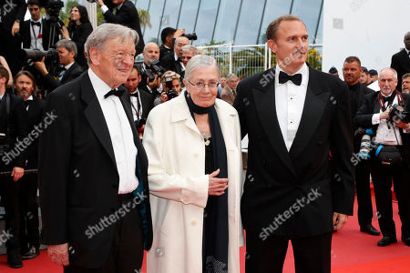 Alfred Dubs, Vanessa Redgrave, Carlo Gabriel Nero From left, lawmaker Alfred Dubs, actress Vanessa Redgrave and producer Carlo Gabriel Nero pose for photographers upon arrival at the screening of the film Loveless at the 70th international film festival, Cannes, southern France