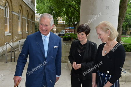 Prince Charles, Ellen MacArthur and Wendy Schmidt (President, Schmidt Family Foundation and Lead Philanthropic Partner of the New Plastics Economy Innovation Prize)