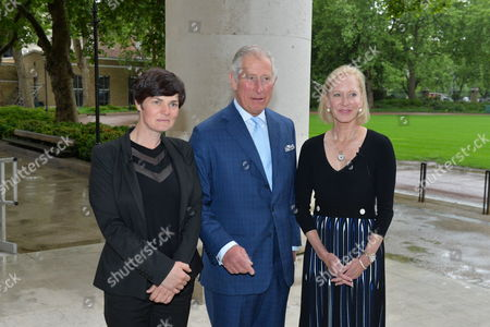 Ellen MacArthur, Prince Charles and Wendy Schmidt (President, Schmidt Family Foundation and Lead Philanthropic Partner of the New Plastics Economy Innovation Prize)