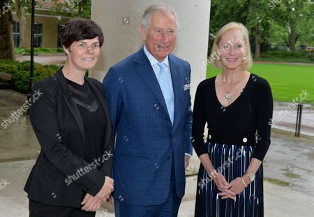 Stock Image of Ellen MacArthur, Prince Charles and Wendy Schmidt (President, Schmidt Family Foundation and Lead Philanthropic Partner of the New Plastics Economy Innovation Prize)