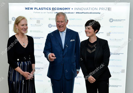 Editorial picture of New Plastics Economy Innovation Prize at the Saatchi Gallery, London, UK - 18 May 2017