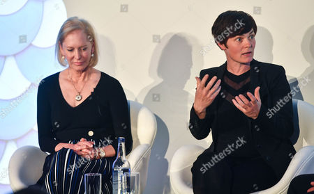 Prince Charles Wendy Schmidt (President, Schmidt Family Foundation and Lead Philanthropic Partner of the New Plastics Economy Innovation Prize) and Ellen MacArthur
