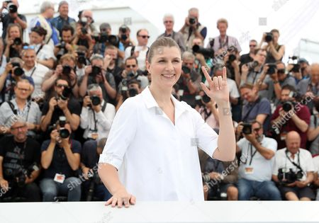 Actress Maryana Spikav poses for photographers during the photo call for the Loveless, at the 70th international film festival, Cannes, southern France