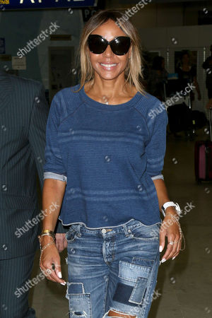 Cathy Guetta seen arriving at Nice airport