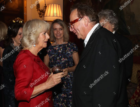Stock Photo of Camilla Duchess of Cornwall and Maurice Saatchi
