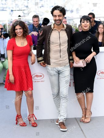 Stock Photo of Kaouther Ben Hania, Ghanem Zrelli and Mariam El Ferjani