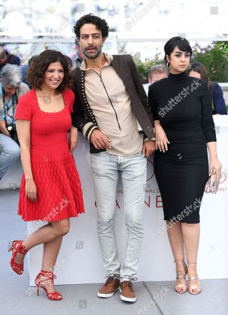 Stock Image of Kaouther Ben Hania, Ghanem Zrelli and Mariam El Ferjani