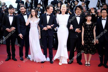 Devon Bostick, Jake Gyllenhaal, Lily Collins, Paul Dano, Tilda Swinton, Bong Joon-Ho, Seo-Hyeon Ahn and Steven Yeun