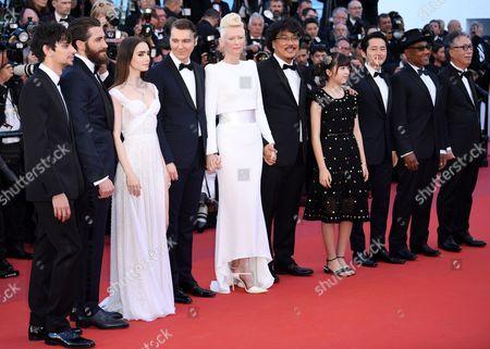 Devon Bostick, Jake Gyllenhaal, Lily Collins, Paul Dano, Tilda Swinton, Bong Joon-Ho, Seo-Hyeon Ahn, Steven Yeun and Giancarlo Esposito