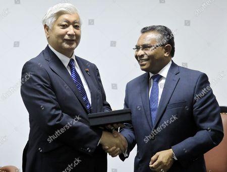 Stock Photo of Gen Nakatani and Rui Maria de Araujo