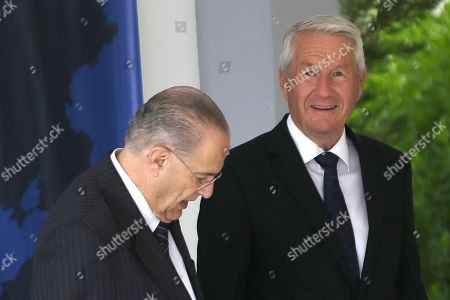 Ioannis Kasoulides, Thorbjorn Jagland Cyprus' Foreign Minister Ioannis Kasoulides, left, welcomes Council of Europe Secretary General Thorbjorn Jagland prior to a session of the Council of Europe's Committee of Ministers at the Filoxenia Conference Center in Nicosia, Cyprus. A new Council of Europe convention will take aim at smugglers and buyers who deal in stolen antiquities and other priceless cultural artifacts in a trade that's often used to finance terrorist organizations