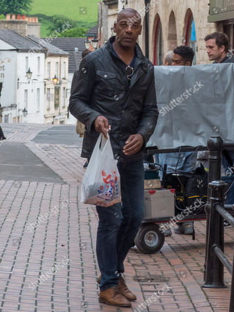 Editorial picture of 'Back' on set filming, Stroud, Gloucestershire, UK - 18 May 2017