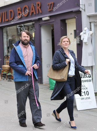Stock Picture of David Mitchell and Olivia Poulet
