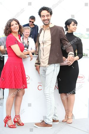Kaouther Ben Hania, Ghanem Zrelli and Mariam El Ferjani