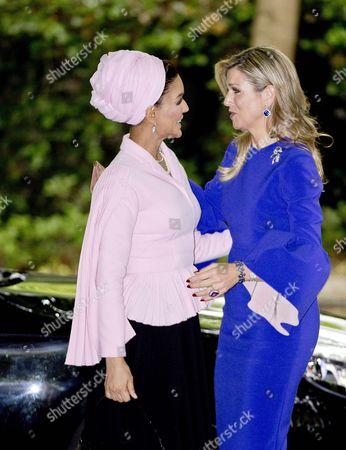 Stock Picture of Queen Maxima, Sheikha Mozah Bint Nasser Al Missned