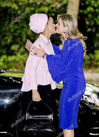 Stock Picture of Queen Maxima, Sheikha Mozah Bint Nasser Al Missned