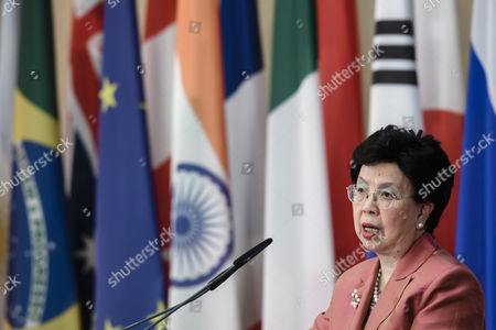 The General Director of the World Health Organization (WHO), Margaret Chan, speaks during the G20 Health Minister's Meeting in Berlin, Germany, 19 May 2017. The Health Ministers meet in Berlin from 19 to 20 May 2017.
